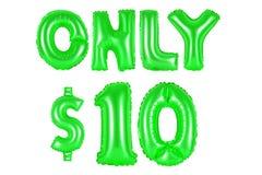 Только 10 долларов, зеленый цвет Стоковые Изображения RF