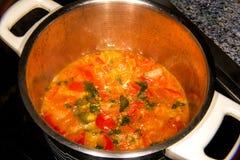 Томатный соус в баке Стоковые Изображения