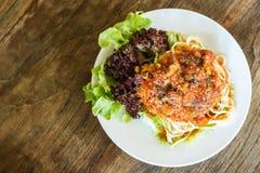 Томатный соус спагетти Стоковые Фотографии RF