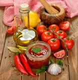 Томатный соус с овощами стоковое фото rf