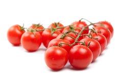 томаты вишни намочили белизну Стоковое Фото