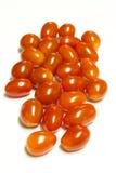 томаты вишни свежие изолированные белые Стоковое Изображение RF
