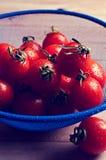 Томаты вишни с капельками воды Стоковое Изображение RF