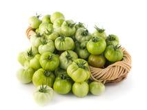 томаты заполненные корзиной зеленые Стоковые Изображения RF