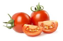 томаты изолированные предпосылкой белые стоковые фото