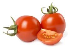 томаты изолированные предпосылкой белые стоковые фотографии rf