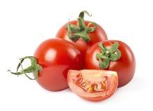 томаты изолированные предпосылкой белые стоковое изображение