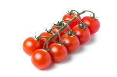 томаты изолированные вишней белые Стоковые Фотографии RF