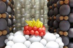 Томаты и бананы воздушного шара стоковая фотография