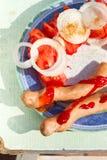 Томаты и лук Стоковое фото RF