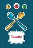 томаты и перцы. космос для текста Стоковые Фотографии RF