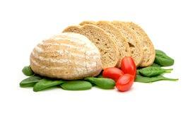 Томаты и шпинат хлеба Стоковые Изображения
