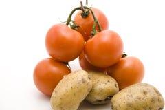 томаты картошек Стоковая Фотография RF