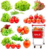 томаты красного цвета салата листьев вишни Стоковое Фото