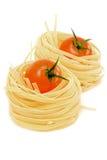 томаты макаронных изделия гнездя Стоковая Фотография RF