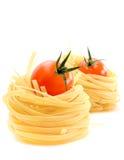 томаты макаронных изделия гнездя Стоковые Фото