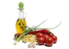томаты макаронных изделия стоковое изображение rf