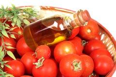 томаты масла прованские красные Стоковое Изображение RF