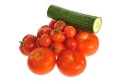 томаты огурца Стоковая Фотография