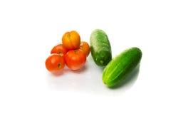 томаты огурцов свежие Стоковая Фотография