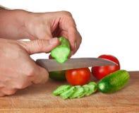 томаты огурцов chop Стоковые Фото