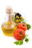томаты оливки масла зеленых цветов Стоковое Изображение RF