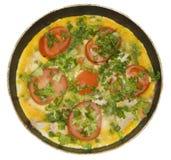 томаты омлета трав Стоковое Изображение RF