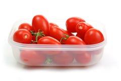 томаты пластмассы контейнера Стоковые Изображения
