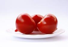 томаты предпосылки белые Стоковые Фото