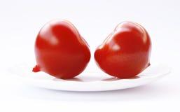 томаты предпосылки белые Стоковые Фотографии RF