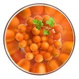 томаты салата вишни шара стеклянные Стоковые Фото