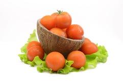 томаты салата листьев вишни Стоковая Фотография RF