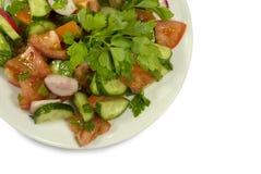 томаты салата огурцов Стоковые Изображения RF
