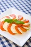 томаты салата mozarella сыра итальянские Стоковая Фотография RF