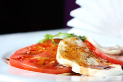 томаты салата mozzarella arugula caprese Стоковая Фотография