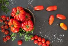 томаты серии еды предпосылки Стоковое Фото