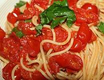 Томаты спагетти Стоковое Фото