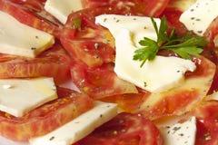 Томаты с сыром Стоковое Изображение