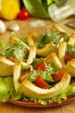 томаты tartlets салата сыра Стоковые Фото
