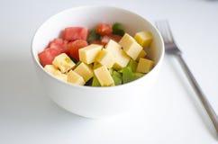 Томат, авокадо и сыр Стоковая Фотография RF