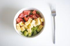 Томат, авокадо и сыр стоковое фото