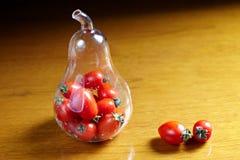 Томат вишни в бутылке Стоковое Фото