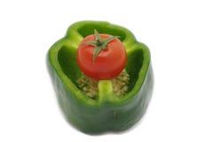 томат зеленого перца вишни Стоковое фото RF