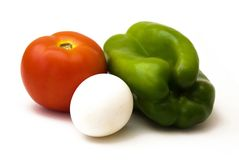 томат зеленого перца яичка Стоковые Фотографии RF
