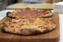 Томат и сыр пиццы Стоковое Изображение RF
