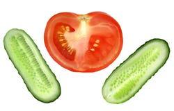 томат ломтика огурца свежий естественный Стоковые Фото