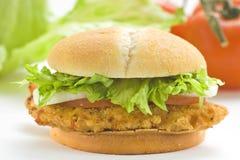 томат лука салата цыпленка сыра бургера хрустящий Стоковое фото RF