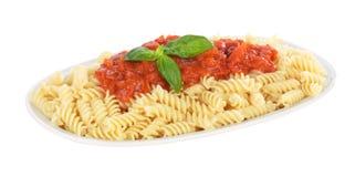 томат макаронных изделия fusilli итальянский Стоковое Фото