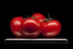 Томат, овощ, поднос, еда, красный цвет, шпат Стоковые Изображения
