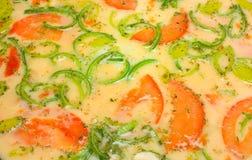 томат омлета лук-порея Стоковые Фотографии RF